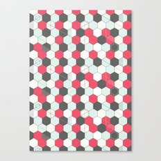 Hexagons Pattern Canvas Print