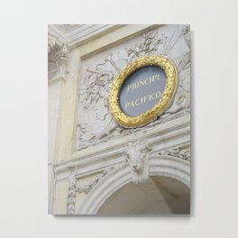 Gilded No. 2-Arc de Triomphe at Place Stanislas in Nancy, France (2012) Metal Print