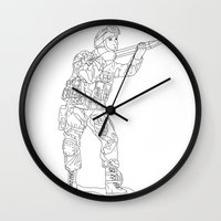 military Wall Clocks featuring Military Art by Dario Olibet