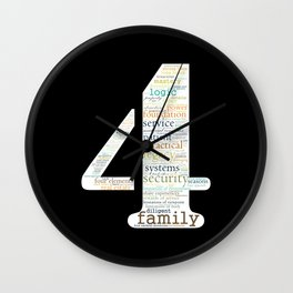 Life Path 4 (black background) Wall Clock