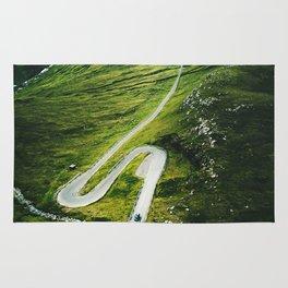 winding road in the faroe islands Rug