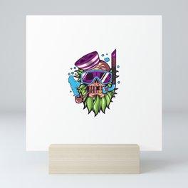 Skull Snorkle Mini Art Print