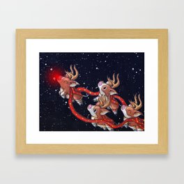 Santa's Backups Framed Art Print
