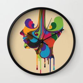 Poured Wall Clock
