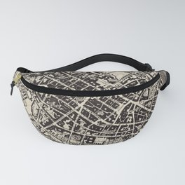 Vintage Map of Piacenza Italy (1943) Fanny Pack