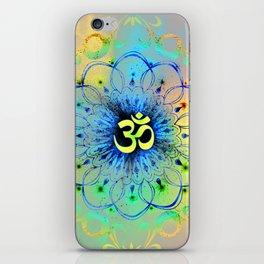 """The higher power of Om"" - sacred geometry iPhone Skin"