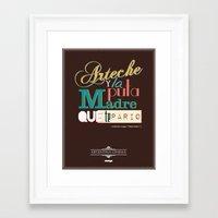 argentina Framed Art Prints featuring Argentina Cinema by Estudio Minga | www.estudiominga.com