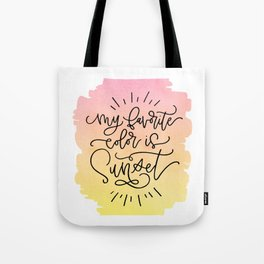 My Favorite Color is Sunset Tote Bag