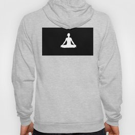 yoga pose chakra black and white silhouette  Hoody