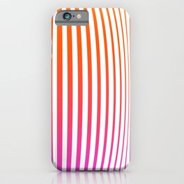 Pink stripes Linear pattern funny iPhone Case