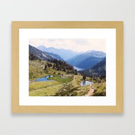 Love hiking in the Pyrenees Framed Art Print