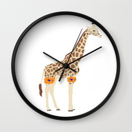 waterproofed giraffe Wall Clock