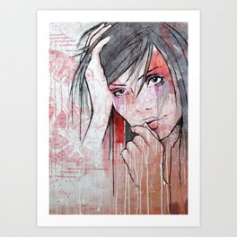 My Colours Are Starting To Run Art Print