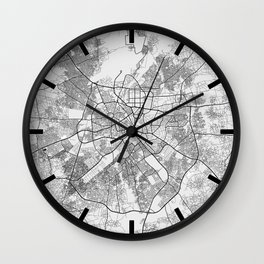 Kano City Map of Nigeria - Light Wall Clock
