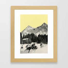 Winter Races Framed Art Print