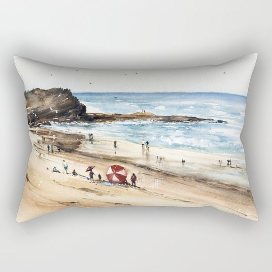Rhodian shoreline Rectangular Pillow