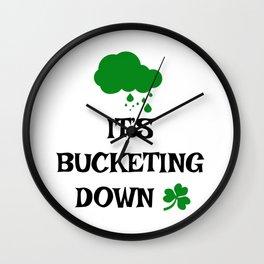Irish Slang - It's bucketing down Wall Clock