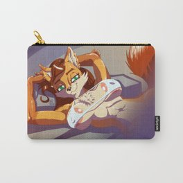 Vixen on bed Carry-All Pouch