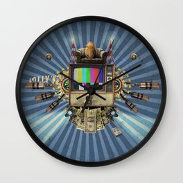 The  Television Will Not Be Revolutionised! Wall Clock