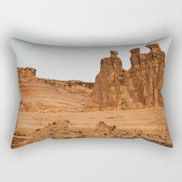 Three Gossips Arches National Park View Rectangular Pillow