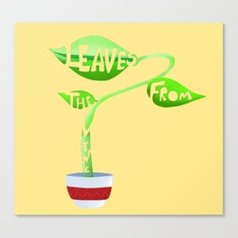 Leaves from the vine Canvas Print