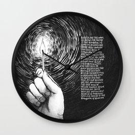 The Beatitudes Wall Clock