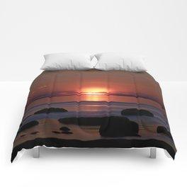 Shock-wave Sunset Comforters