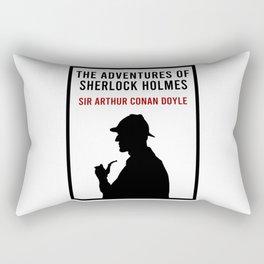 The Adventures of Sherlock Holmes Book Cover Rectangular Pillow