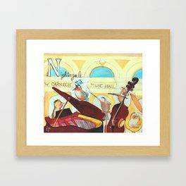 N for Nightingale - Alphabet City Framed Art Print