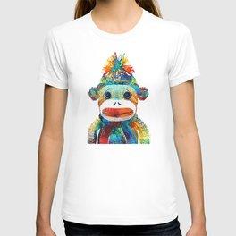 Sock Monkey Art - Your New Best Friend - By Sharon Cummings T-shirt