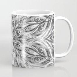 Gray Center Swirl Mandala Coffee Mug