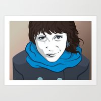 daria Art Prints featuring DARIA by ketizoloto