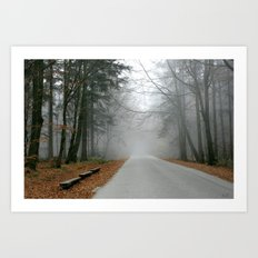 Mysterious place Art Print