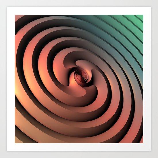 Spiraling One Art Print