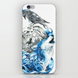 Lonely Wolf iPhone Skin