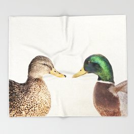 Two Ducks Throw Blanket