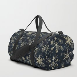 Snowflake Crystals in Gold Duffle Bag