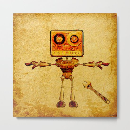 Repair of the robot Metal Print