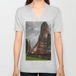 Wat Chaiwatthanaram Unisex V-Neck