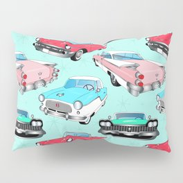 Retro Fins + Fenders in Mod Mint Pillow Sham