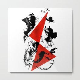 Red & Black Metal Print