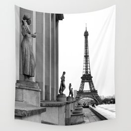 Trocadero Eiffel Tower Paris Wall Tapestry
