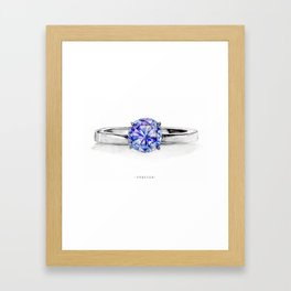 RING。FOREVER Framed Art Print