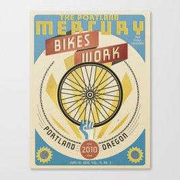 Portland Mercury Bike Issue cover  Canvas Print