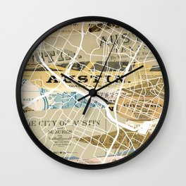Austin map Wall Clock