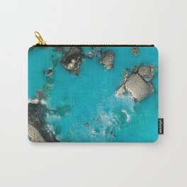 Turquoise & Gold Carry-All Pouch