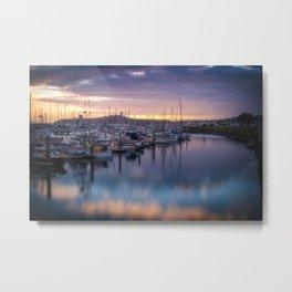 Nature's Hues Sunset at Half Moon Bay Metal Print