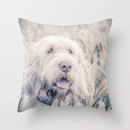 Pure White Barley Throw Pillow