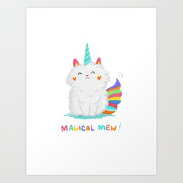 Magical Mew Art Print
