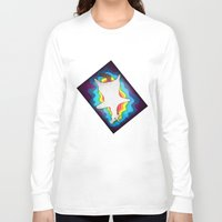 rug Long Sleeve T-shirts featuring Unicorn Rug by That's So Unicorny